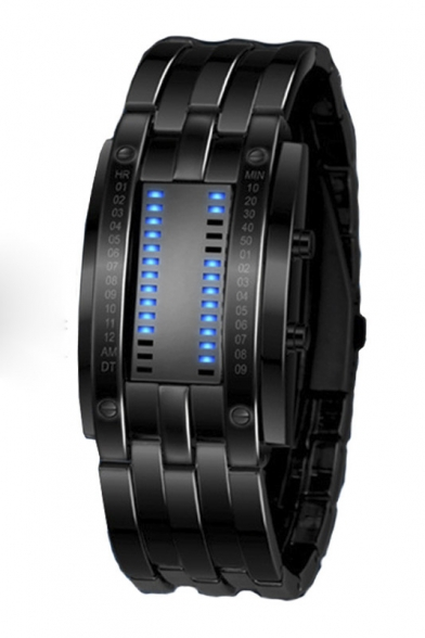 Fashion Double Light Electric Watch for Couple