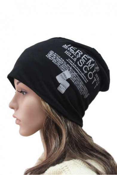 Fashion Unisex Concise Knit Hat with Letter Print