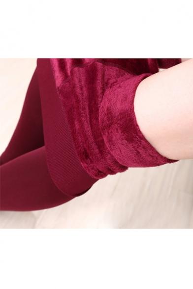 Women's Winter Warm Velvet Elastic Leggings