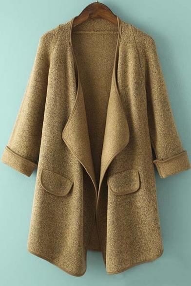 Women's Winter Warm Loose Knitted Sweater Jacket Cardigan