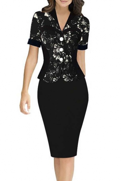 Women Sexy Knee Length Bodycon Wear To Work Cocktail