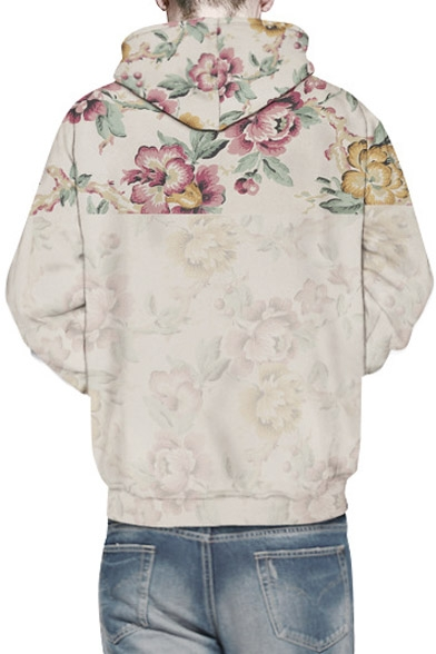 Sleeve Rose Print Floral Unisex Fashion 3D Hooded Hoodie Long wZqH0RgFx
