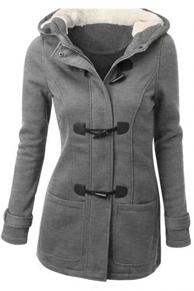Women's Wool Blended Classic Pea Coat Jacket - Beautifulhalo.com
