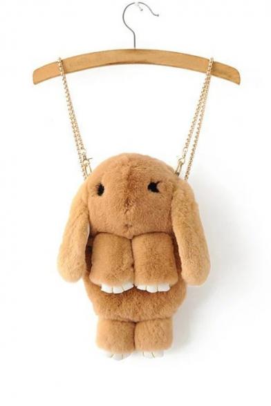 Fashion Cute Rabbit Design Metal Straps Satchel Backpack
