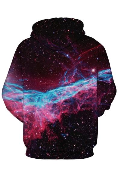 Unisex Hooded Cartoon Galaxy 3D Print Long Sleeve Hoodie