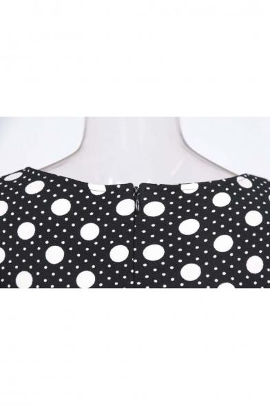 Womens Tartan Check Plaid High Waist Casual Work Office Pencil Dress