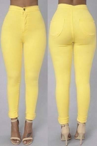 Well-Sold High Rise Pinkycolor Skinny Jeans