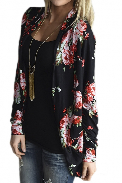 Women's Boho Irregular Long Sleeve Wrap Kimono Cardigans Coat Tops Outwear LC426649 фото