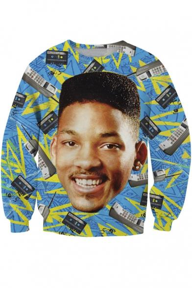 Unisex Funny Print Pullover Sweatshirt