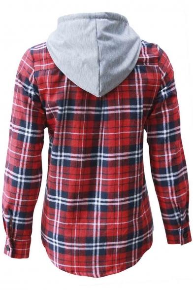 HHoo88 Womens Sweatshirts Oversized Cowl Neck Long Sleeve Raglan Pullover Shirt Plaid Tunic Tops Flannel Plaid Blouse