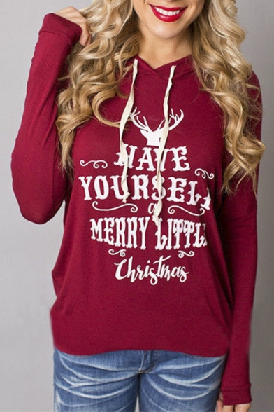 womens holiday shirthave yourself merry little christmas print hoodies