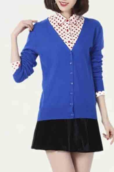 Women's Basic Solid Color Sweater Cardigans
