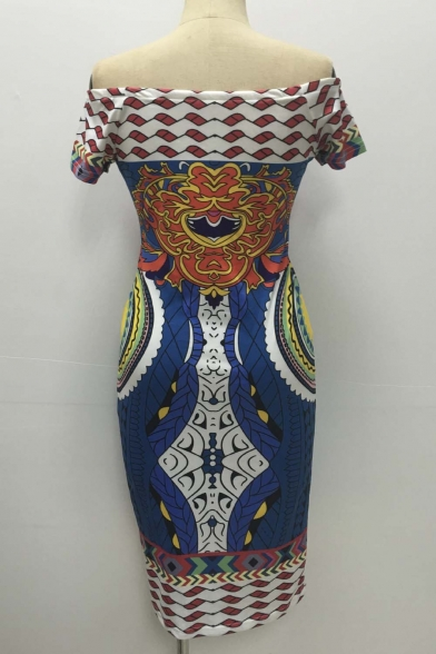 ccafeb35c9e ... Women Sexy Traditional African Print Dashiki Bodycon Sexy Short Sleeve  Dress