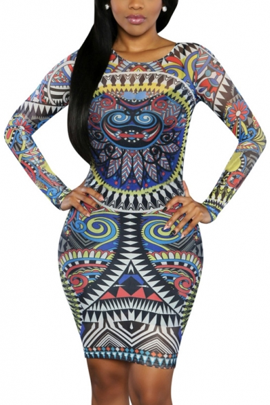 Women Sexy Traditional African Print Dashiki Bodycon Sexy