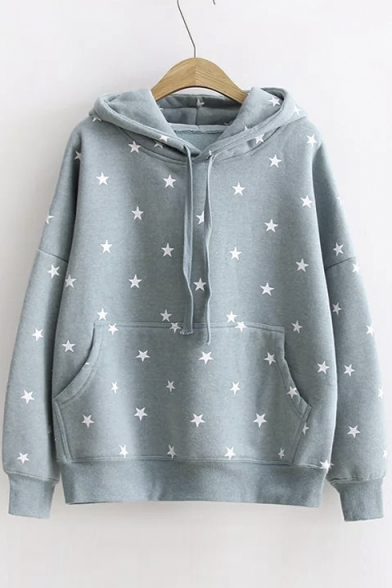 Women S Star Print Long Sleeve Casual Pullover Loose