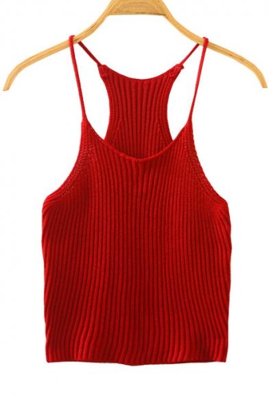 Red Spaghetti Strap Top