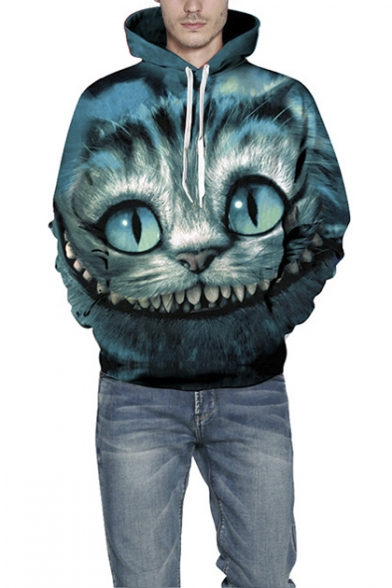 Unisex Printing Cat Sweatshirt Hooded Pocket Simulation HffwxCqYp