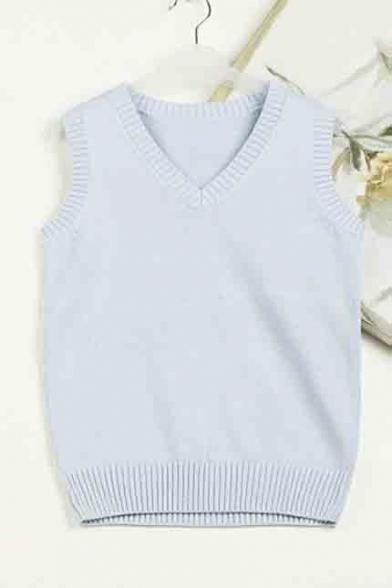 Womens Knit V Neck Sleeveless Pullover Sweater Vest Beautifulhalocom