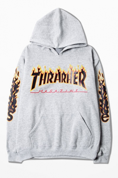 Hooded Sweatshirt Letter Fashion Couple THRARHER Contrast Hoodie Printed pdxwqU0