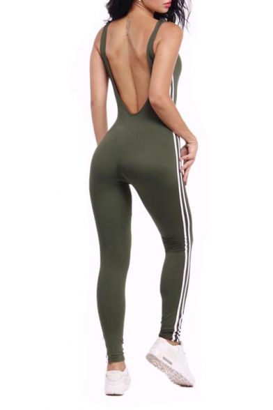 c8fb00e7e44 ... Women Sexy Backless Sleeveless One Pieces Bodycon Bandage Long Pants  Jumpsuit Catsuit