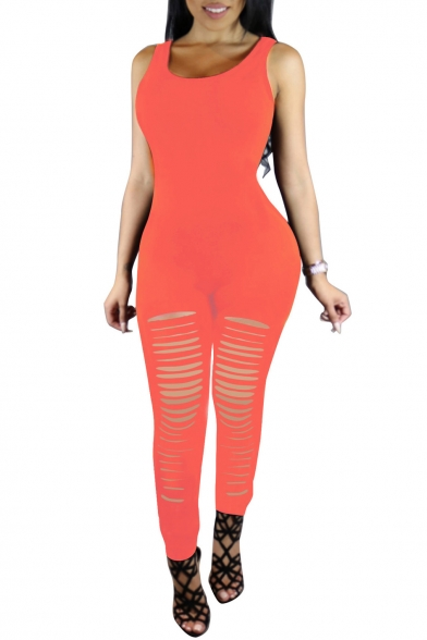 2222dca5d332 ... Women Spaghetti Strap Bodycon Tank One Piece Jumpsuits Rompers Playsuit  ...