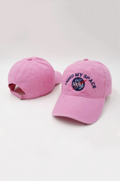 Unisex Embroidery NASA I NEED MY SPACE Letter Baseball Outdoor Cap