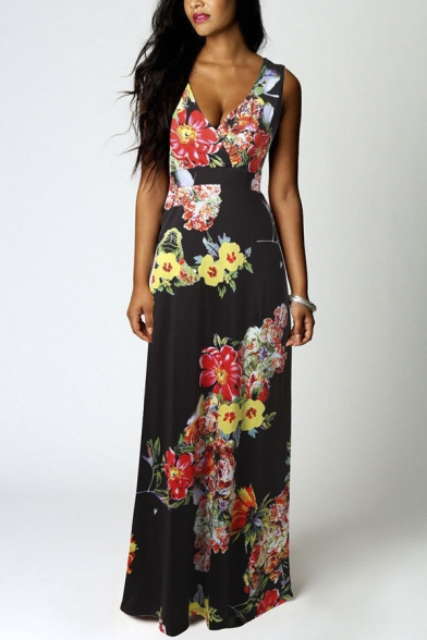Women Summer Boho Floral Long Casual Party Maxi Dress