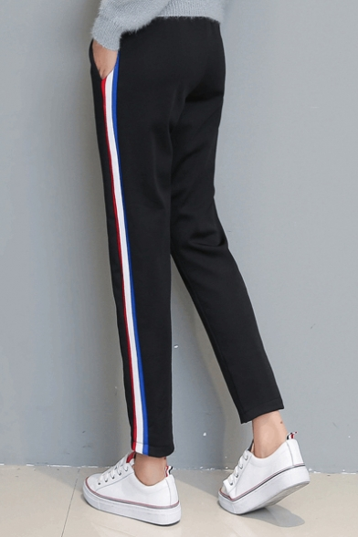 Women S Plus Size Side Stripe Sport Pants Beautifulhalo Com