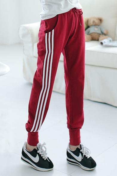 Women's Plus Size Side Stripe Sport Knit Pants