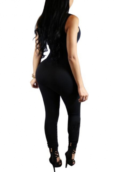 bacf3d008412 ... Women Spaghetti Strap Bodycon Tank One Piece Jumpsuits Rompers Playsuit