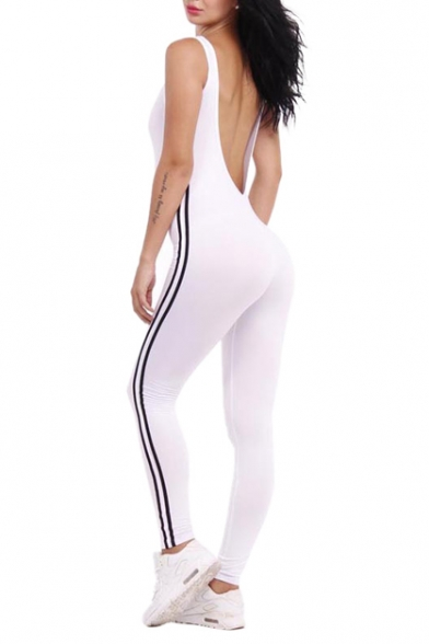 238703cd306 ... Women Sexy Backless Sleeveless One Pieces Bodycon Bandage Long Pants  Jumpsuit Catsuit ...