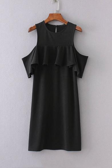 Kuwait dropshippers Neck Flounce Dresses Round Plain Bodycon Short Sleeve chart queen johannesburg