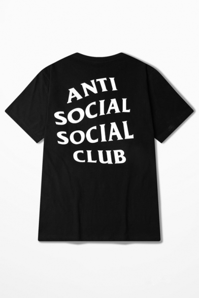 39c2aa93defe ANTI SOCIAL SOCIAL CLUB Letter Printed Short Sleeve Round Neck Tee -  Beautifulhalo.com