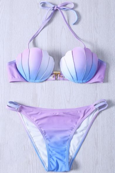 Sexy Bikini Swimwear Neck Arrival Ombre Shell New Halter Design xY7O14Awq