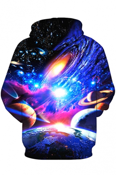 Long Sweatshirt Hoodie Galaxy Sleeve Printed Unisex 3D Pwqq4