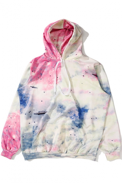 Leisure Galaxy Printed Long Unisex Sports Hoodie Sleeve waIa7fnq