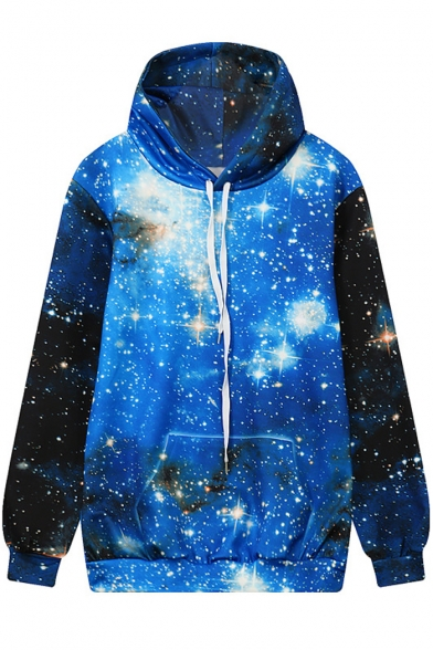 Digital Galaxy Long Sleeve Casual Leisure Hoodie