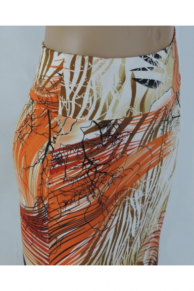 16ee125c94 ... Summer's High Waist Sexy Floral Printed Bodycon Maxi Skirt