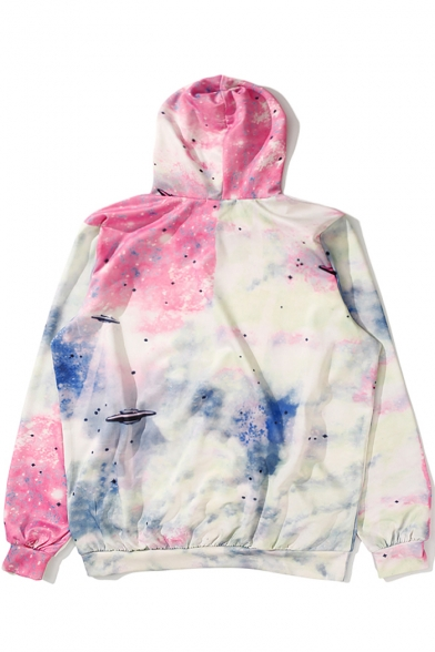 Long Leisure Unisex Sports Hoodie Printed Galaxy Sleeve 5wUq6Wvxan