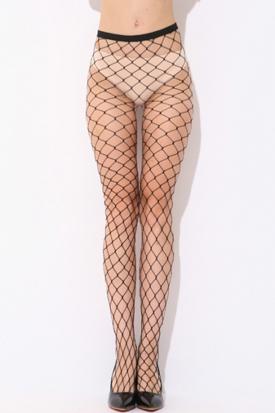 New Arrival Fashion Sexy Plain Fishnet Cut Out Stockings