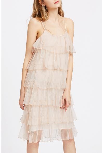 Multi-Layered Chiffon Dress