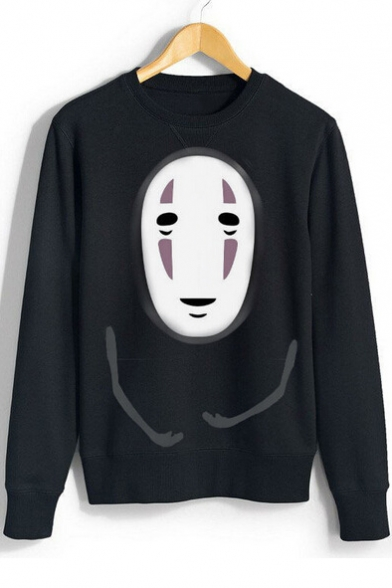 New Arrival Cartoon Printed Round Neck Long Sleeve Pullover Loose Sweatshirt