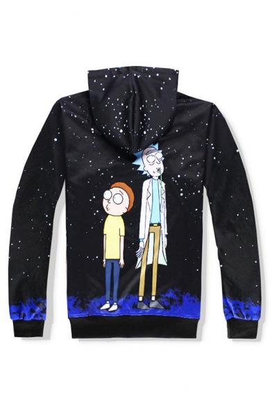 Hot Fashion Cartoon Pattern Long Sleeve Loose Leisure Hoodie