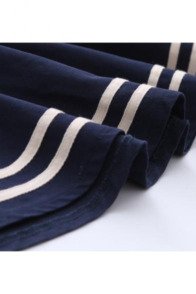 f577328baa ... Cartoon Cat TV Embroidered A-Line Mini Pleated Overall Skirt ...