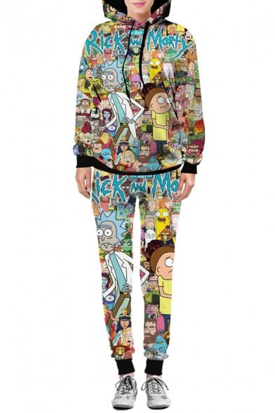 Hot Fashion Funny Cartoon Printed Drawstring Waist Leisure Sports Pants
