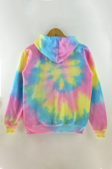 Ombre Tie Dye New Fashion Long Sleeve Loose Leisure Hoodie for Couple