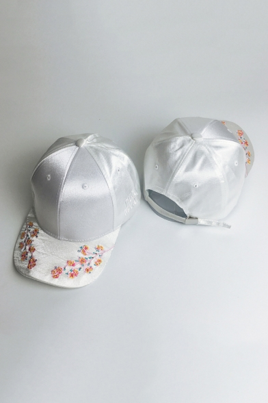Retro Chinese Style Floral Embroidered Chic Summer's Unisex Sun Cap
