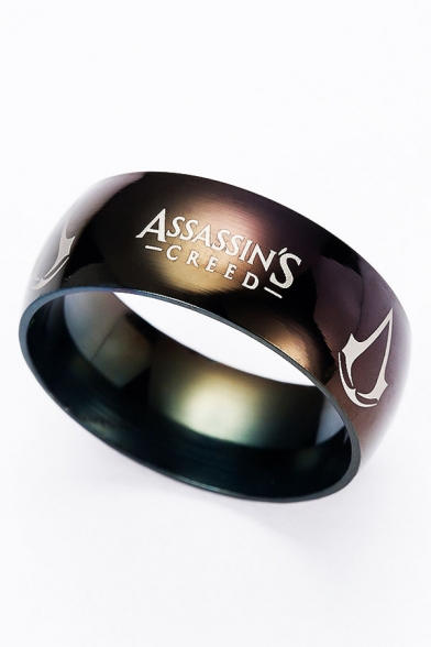Unisex ASSASSIN'S CREED Letter Printed Fashion Ring
