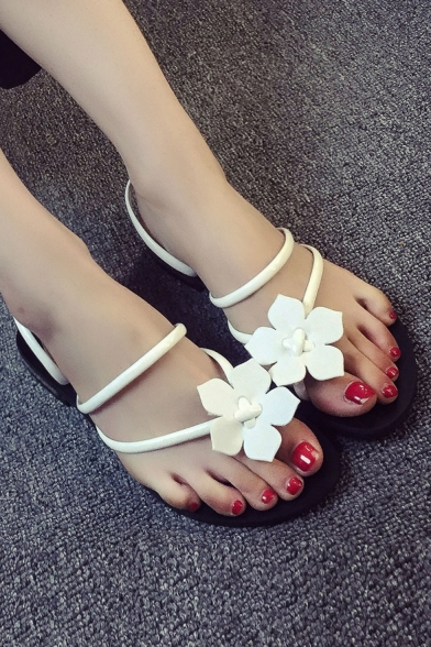 Women's Fashion Floral Appliqued Bandage Sandal