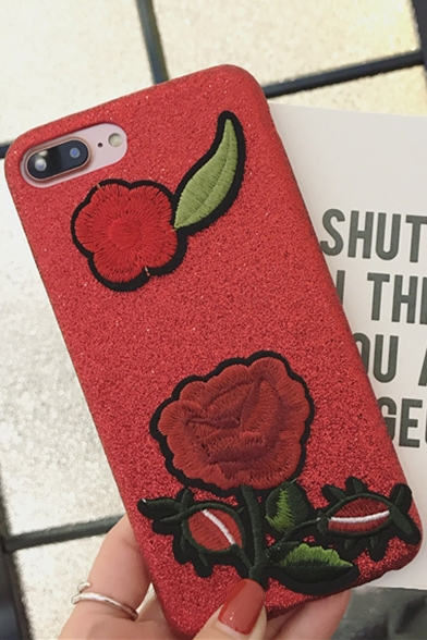 New Collection Chic Floral Embroidered Mobile Phone Case for iPhone